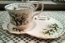 Royal Albert Flower of the month January Fiori mese Gennaio Tazza The Tennis