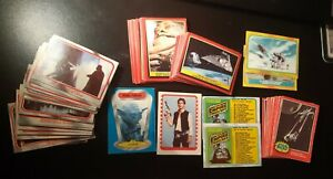 STAR WARS 1977  JEDI 1983  EMPIRE 1980 LOT 78 NON SPORT CARDS +2 STICKERS OPC