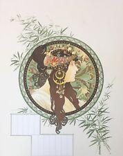 "Rare ! Alphonse Mucha ""Byzantine Head""-Brunette lithograph on paper 18.5"" x 23"""