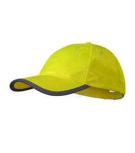 Mütze Cap Caps Kappe neonfarben - Reflektorbänder - HV Reflex - RIMECK *NEU*