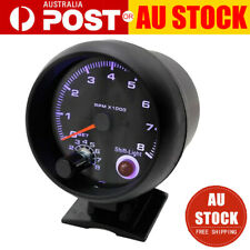 Universal 3.75'' Car Tachometer Tacho Gauge Meter 0-8000 RPM W/ Shift Light 12V