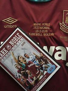 RARE MARK NOBLE TESTIMONIAL DVD @ Boleyn, Full Match vs Legends Di Canio, Ludo