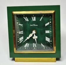 VTG Seth Thomas Mechanical travel alarm clock malachite look dial