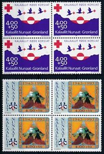 [P15344] Greenland 1993 : 4x Good Set Very Fine MNH Stamps in Blocks