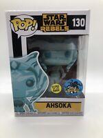 Funko Pop Star Wars Rebels #130 Glow-In-The-Dark Ahsoka WITH POP PROTECTOR