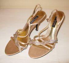 **EUC** Nina 8M Strappy Crystal Embellished Evening Sling Sandal FREE SHIPPING!