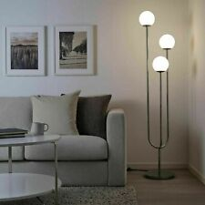 "Ikea SIMRISHAMN Floor lamp, chrome plated, opal white glass 62 "" - NEW"