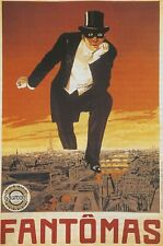 Fantomas early  Film Vintage Retro Wall A0, A1, A2, A3,A4 Poster