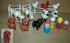 Vintage Fisher Price Little People Farm 19 Pieces