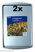 2 SETS Non Stick Of Cookie Baking Pan Tray Bakeware Tin 33 x 23cm