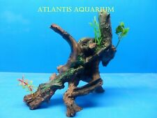 MANGROVE AQUARIUM DECORATION  25279 TREE TRUNK ROOT HAND PAINTED RESIN ORNAMENT