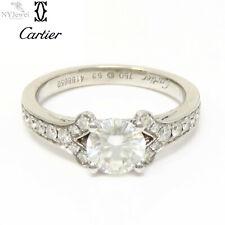 NYJEWEL Cartier 18k White Gold 1.4ct Diamond Engagement Wedding Ring