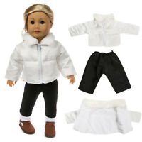 18'' American Doll Clothes Down Jacket Accessory Girls Toy Warm Coat Outwear