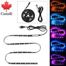 1M USB LED Strip Light 5050 RGB TV Back Lamp 20 Colour Changing Strip Light CA