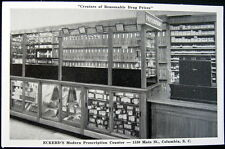COLUMBIA SC~1950's ECKERD'S DRUG STORE~MODERN PRESCRIPTION COUNTER ~ Advert PC