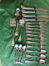 """New listing 21 Pc Oneida Artistry """"Provincetown� Stainless Flatware Vg Cond Free Shipping"""