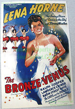 80's Vintage ☆ THE BRONZE VENUS ☆ Lena Horne ☆ Race Movies ☆ Lobby Card Poster