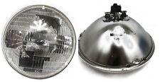 "7"" Round  Sealed Beam Glass Headlight Head Lamp Light Bulb 12V (1 pair)"