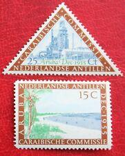 Caribische Commissie NVPH nr. 255-256 1955 MH / Ongebruikt NEDERLANDSE ANTILLEN