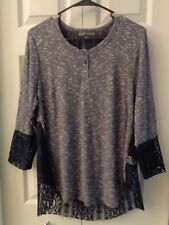 Almost Famous Top Sweater Lace Back 1X or 2X