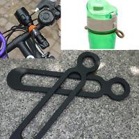 1X Bottle Buckle Silicone Elastic EDC Bicycle Flashlight Band Pant Band Strap JG