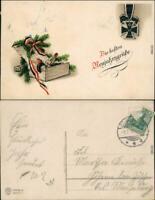 Ansichtskarte  Patriotika Neujahr, Eisernes Kreuz 1916