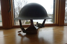 WWII Canada Brodie MKII Steel Helmet with VMC II 1942 liner and chin strap