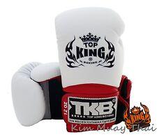 Top King Muay Thai MMA K1 Gloves TKBGSA Boxing Glove Super Air Black White Red