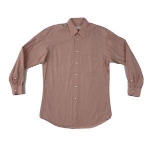 Ermenegildo Zegna Red Button Down Shirt Mens 15 Small Long Sleeve