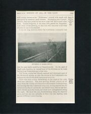 Battlefield Of Chancellorsville Civil War Original Engraving Photo Display