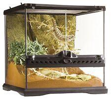 12x12x18 Glass Reptile Terrarium Frog Iguana Snake Lizard Habitat 2 Doors