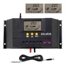Sun YOBA 30A 12V/24V Solar Battery Charge Controller Regulator + 16.4ft Cable WT