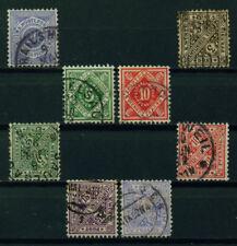 (Bad06) Württemberg 1906, Michel Nr. 47,114-115,201-204, gestempelt, MK 18,40 ?