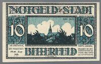 """Notgeld - Stadt Bitterfeld - 10 Pfennig - 1921 - Bild 7  - """"Ob schon zwar ..."""""""