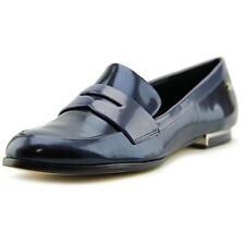 Zapatos planos de mujer de color principal azul de piel talla 37.5