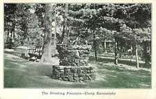 Camp Kanesatake North Carolina Drink Fountain Stone Well Antique Postcard K11248