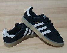 Womens ADIDAS Campus size 8.5 Black Suede Old School Classic Athletic Shoes