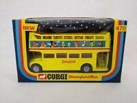 Corgi 470 Disneyland Bus Die-Cast Model 1976 Boxed Free Postage