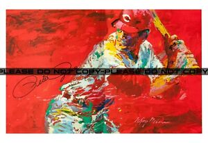 "LeRoy Neiman Signed Pete Rose Large Reprint 11""x17"""