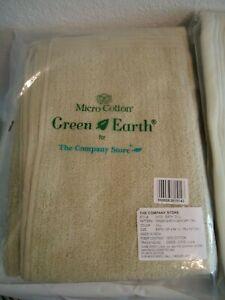 COMPANY STORE GREEN EARTH BATH AND HAND TOWEL SET