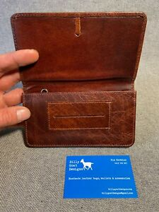 Leather Tobacco Pouch with Papers Section TPZ-P Buffalo 50gm Billy Goat Designs