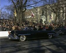 President and Mrs. John F. Kennedy ride in Inaugural Parade New 8x10 Photo