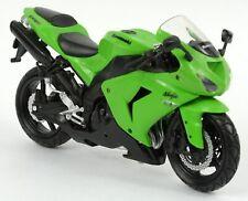 Newray 1:12 Kawasaki Ninja ZX 10 R DIE CAST MODEL Toy Motorbike Motorcycle Green