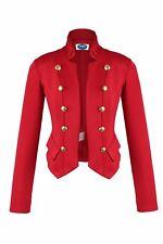 AO Blazer Uniform Stil  Knöpfe Military  Casual Business Jacke Rot XL 42