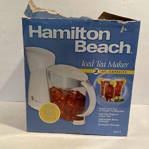 Hamilton Beach Iced Tea Maker 2 Quart Capacity 40911 NEW Open Damaged Box