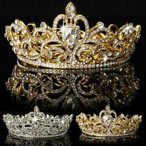 Crystal Rhinestone Queen Crown Tiara Wedding Pageant Bridal Headpiece AU