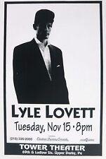 """LYLE LOVETT """"I LOVE EVERYBODY TOUR"""" 1994 PHILADELPHIA CONCERT POSTER"""