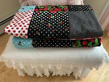 handmade Cherries Mary Engelbreit QUILT 100% cotton country farmhouse
