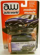 2015 '15 FORD MUSTANG GT BLUE MODERN MUSCLE AUTO WORLD R4 DIECAST 2016