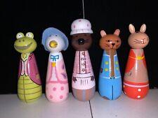 F Warne Wooden 5 Beatrix Potter Figures